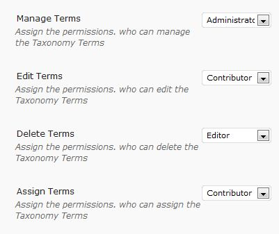 Ultimate Taxonomy Manager | Role Based Permission